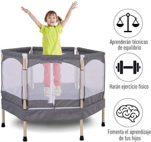 que peso aguantan las camas elásticas para niños