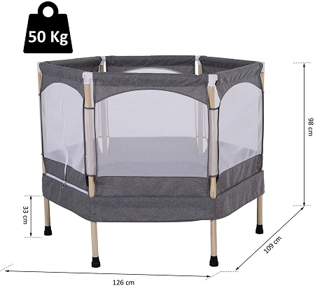 comprar trampolín barato HOMCOM cama elástica infantil 4