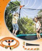 Aspersor Trampolín Set, Rociador de Trampolín Aspersor para Parque Acuático